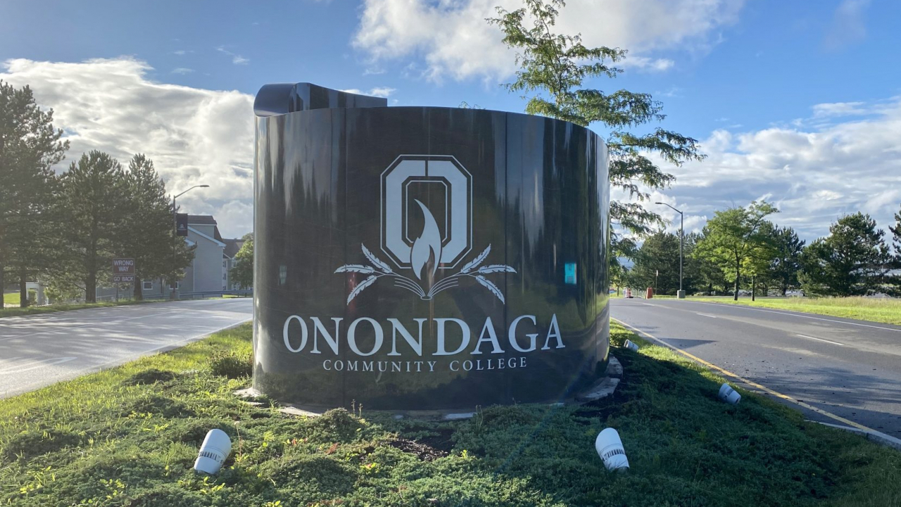 front display sign for Onondaga Community College
